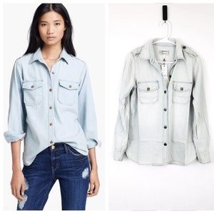 NWT Current Elliot Perfect Shirt Pier Wash Sm/ Med